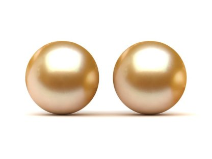 Genuine Loose South Sea Pearl - Gold Color