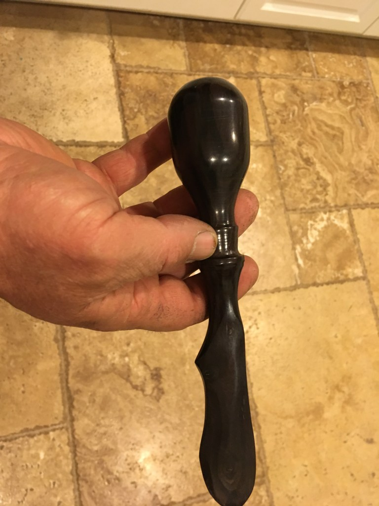 large ebony cheese knife