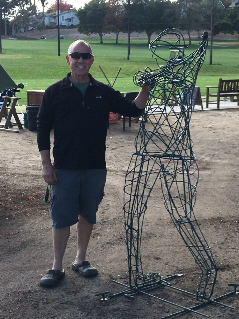 metal golfer yard art sculpture at Contra Costa Country Club