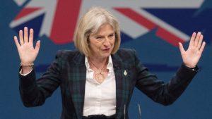 De Britse premier May