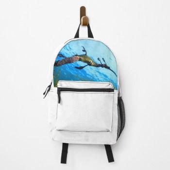 Gym Travel Laptop School Bag Packpack Weedy Seadragon Print