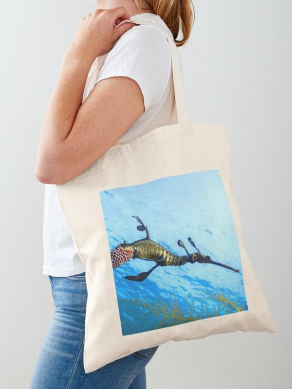 Lightweight Cotton Tote Shopping Bag Weedy Seadragon