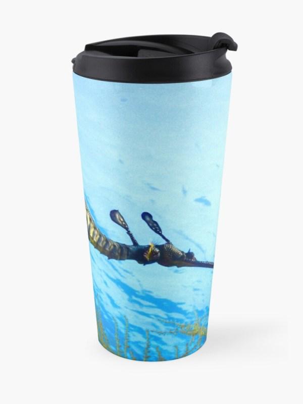 Insulated Travel Mug Weedy Seadragon Print