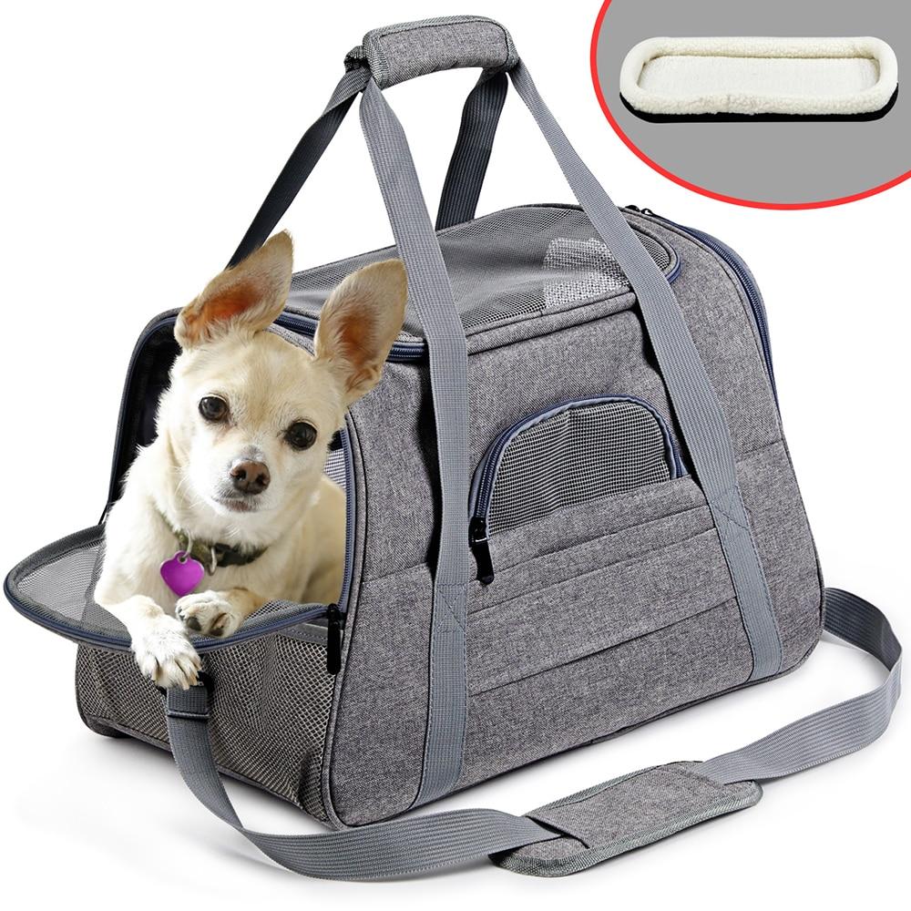Borsa Zaino per cane o gatto Portatile Pet Zaino Messenger Cat Carrier Lato Morbido Traspirante