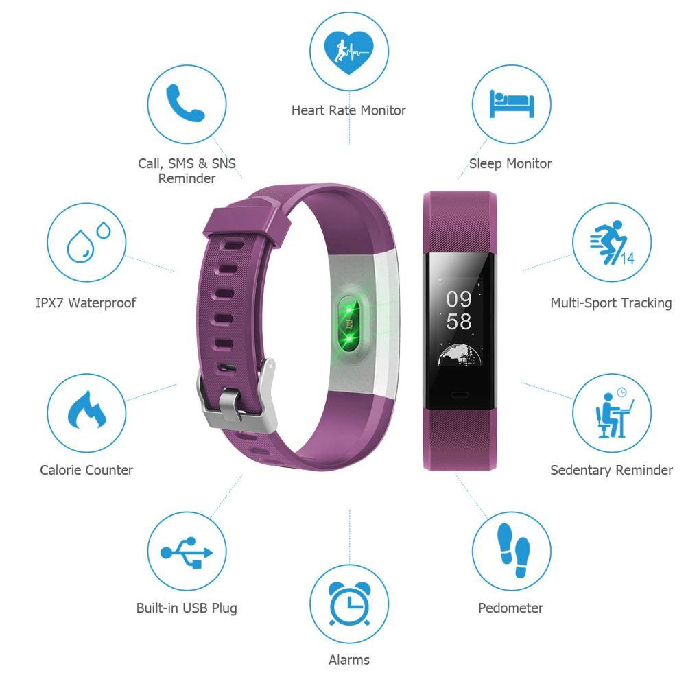 SmartWatch con app per ios e android per uomo e donna con monitoraggio frequenza cardiaca - pressione sanguigna ottimo il fitness tracker e sport