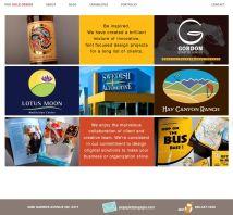 WordPress website for graphic designer