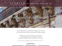 screenshot Cipalla Communications website