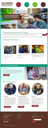 Nourish Pierce County Food Bank website