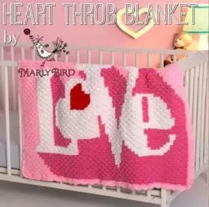 Heart Throb Blanket-Marly Bird's FREE Pattern for Red Heart