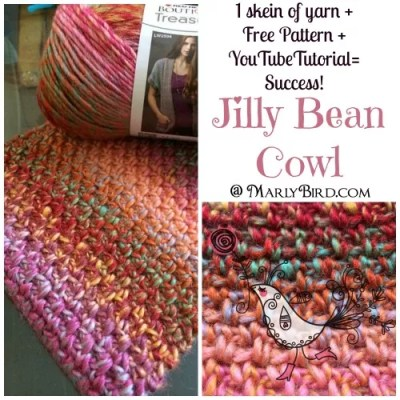 Free Pattern Crochet Cowl: Jilly Bean