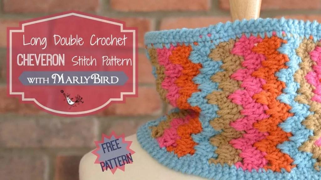 Long Double Crochet Chevron Stitch Pattern - Marly Bird™