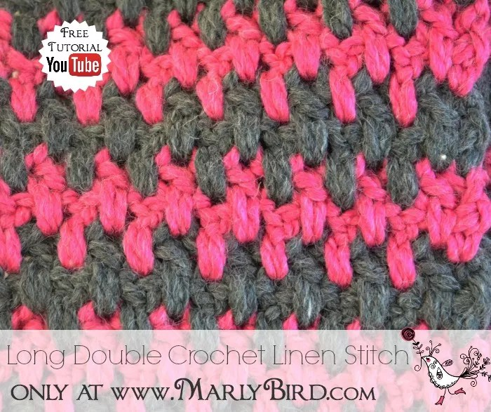 Long Double Crochet Linen Stitch Pattern Marly Bird