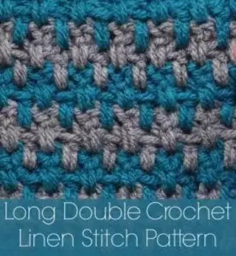 Long Double Crochet Linen Stitch Pattern YouTube Tutorial and FREE PATTERN by Marly Bird. www.MarlyBird.com