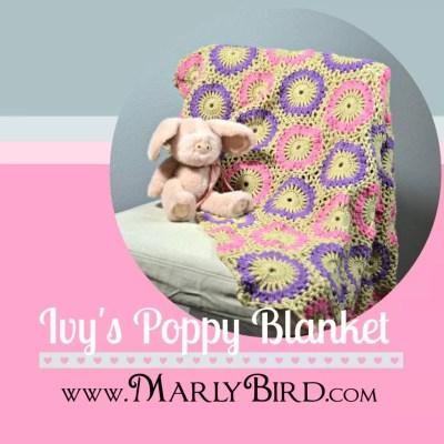 Ivy's Poppy Blanket: Free Crochet Baby Blanket Pattern