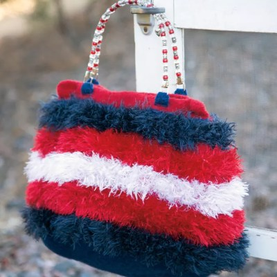 Firecracker Felted Crochet Bag