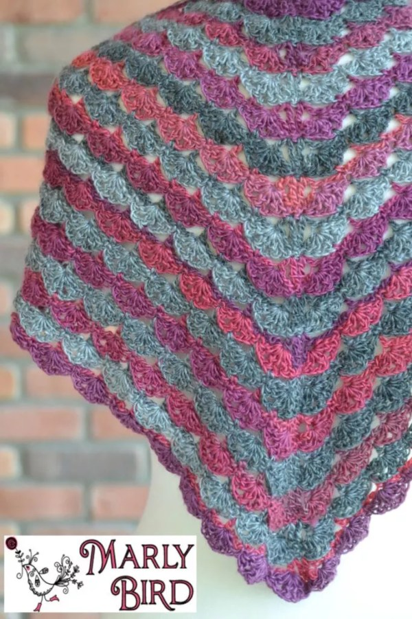 Free Crochet Shawl No Stopping Me Now Marly Bird