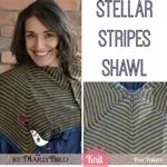 Stellar Stripes Knit Shawl
