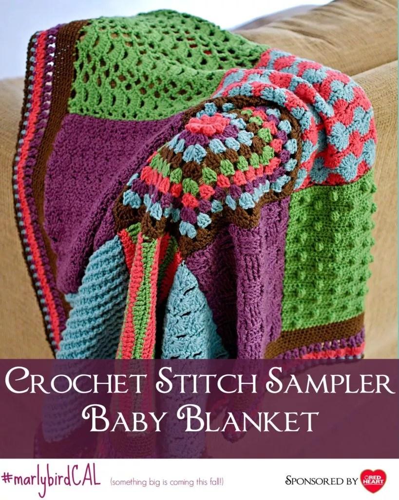 Crochet Stitch Sampler Baby Blanket Cal Details Marly Bird