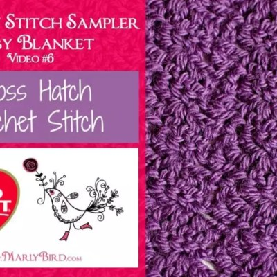 Cross Hatch Crochet Stitch