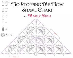 No Stopping Me Now Shawl Crochet Chart  Marly Bird™