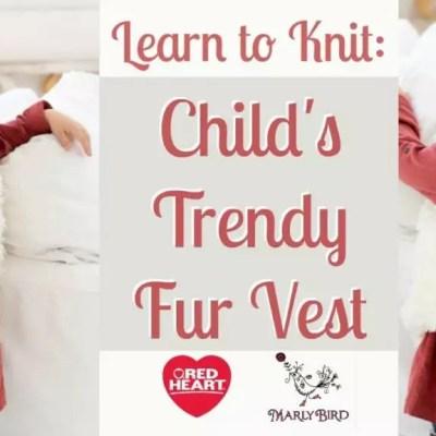 Child's Trendy Fur Vest