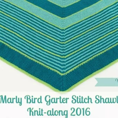 Marly Bird Garter Stitch Shawl Knit-along Section 1