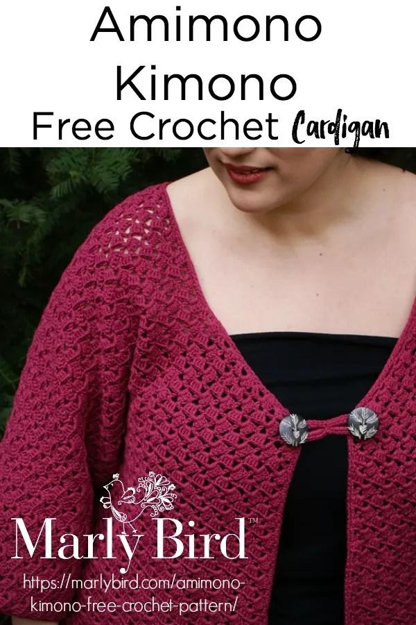 Amimono Kimono Free Crochet Sweater Pattern by Marly Bird™