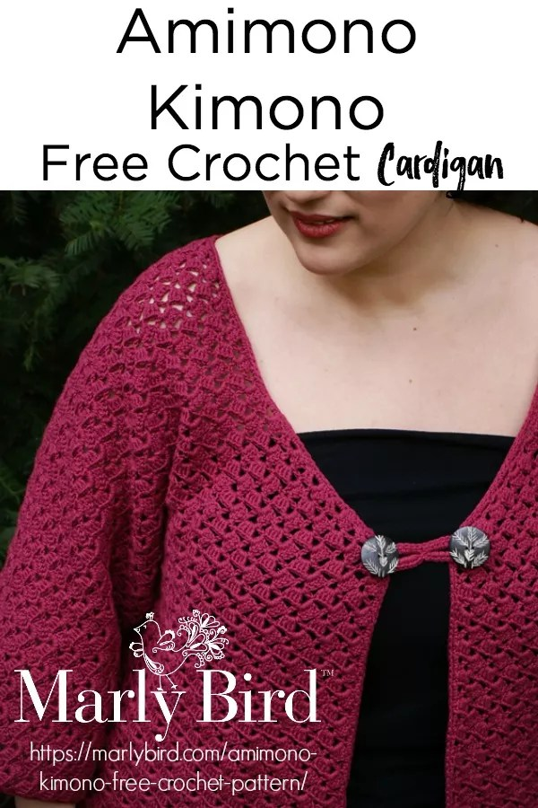 Amimono Kimono Free Crochet Sweater Pattern by Marly Bird™