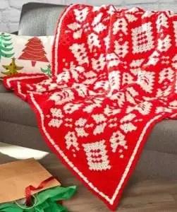 Snowflake Corner-to-corner blanket