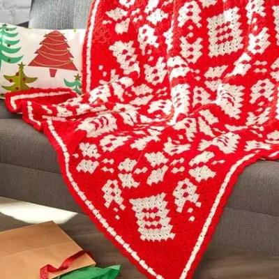 Corner-to-Corner Blanket in Half Double Crochet