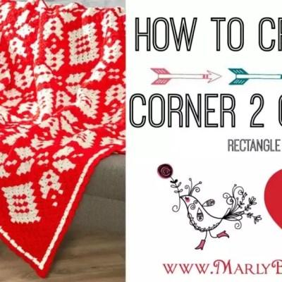 Corner-to-Corner Rectangle Using Half Double Crochet