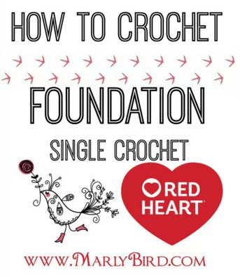 Marly Bird teaches how to crochet foundation single crochet