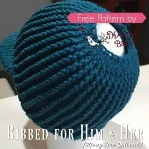 Free Crochet Messy Bun Hat Pattern
