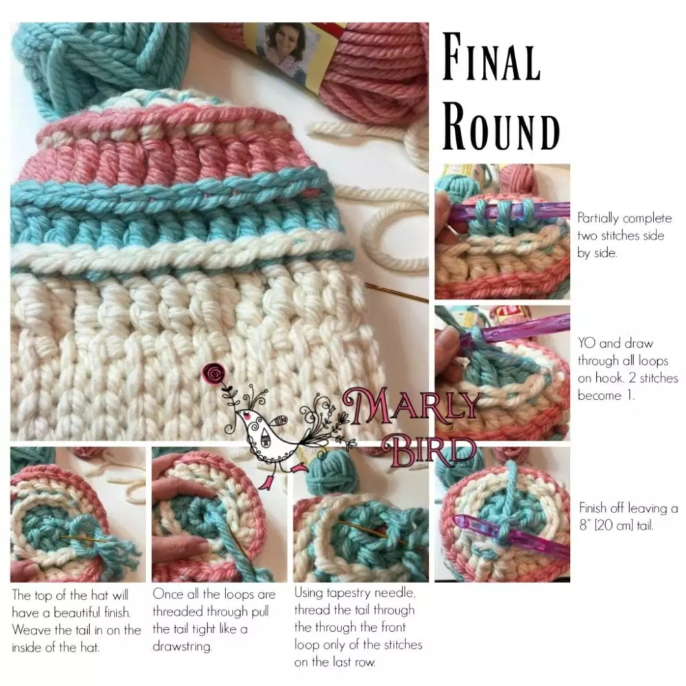 Free Bulky Crochet Messy Bun Hat Chunky Monkey Bulky Hat