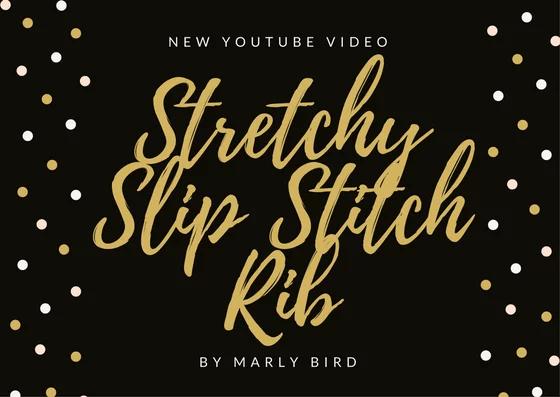 Crochet Stretch Slip Stitch Rib Tutorial by Marly Bird