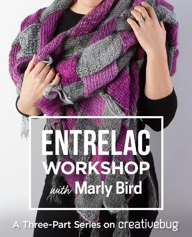 creativebug knitting entrelac workshop with Marly Bird