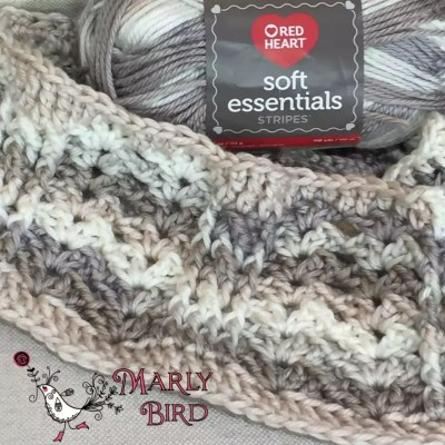 Crochet Cables and Lace Shell Stitch Pattern