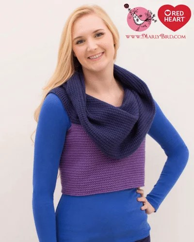 Transformation Sweater-FREE Red Heart Pattern by Marly Bird