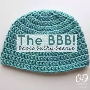 Red Heart Soft Essentials Patterns- Basic Bulky Beanie