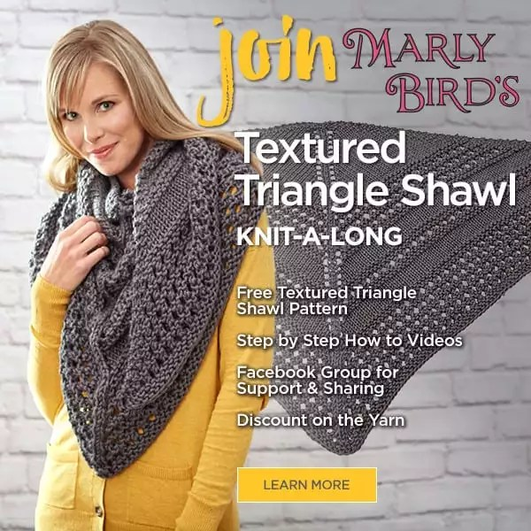 Marly Bird KAL-Textured Triangle Shawl