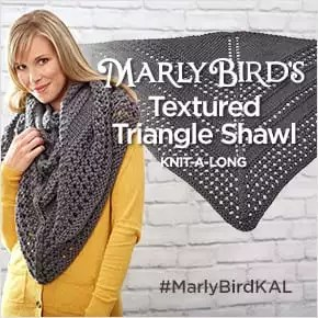 Textured Triangle Shawl Knit-Along