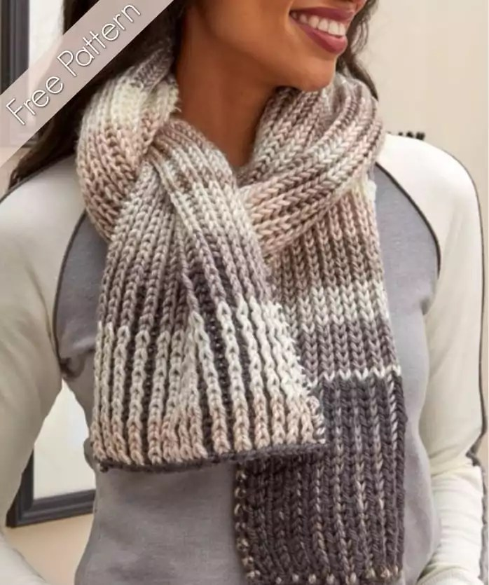 Fantastic Brioche Scarf -- Free Pattern and Video Tutorial -- Line-by-Line instructions from Marly Bird