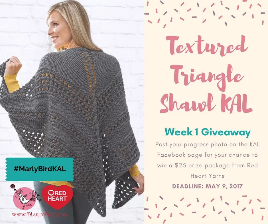 Textured Triangle Shawl Knit-along Section 1 - Marly Bird™