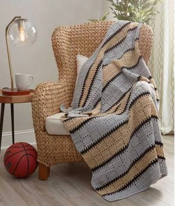 Squares in Stripes Throw