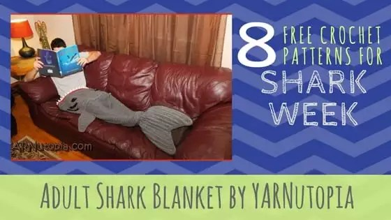 Adult Shark Blanket by YARNutopia
