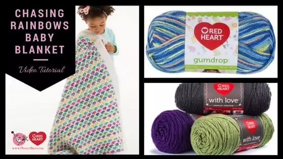 Chasing Rainbows FREE Crochet Baby Blanket Pattern by Marly Bird with FREE video tutorial