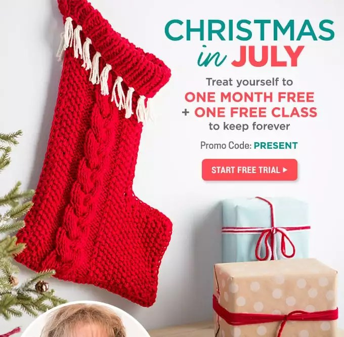 Christmas In July Stocking Class with Marly Bird and creativebug