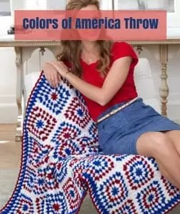 Colors of America Throw Free Patriotic Crochet Pattern from Red Heart