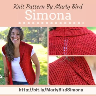 Simona Vest Knit Pattern By Marly Bird