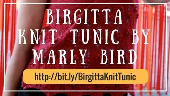 Birgitta Knit Tunic pattern by Marly Bird